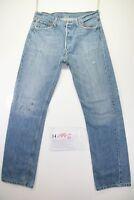 Levi's 501 Customized (Cod. H1996)Tg48 W34 L34 jeans usato Vita Alta Levis