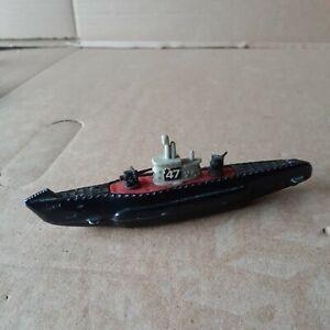 """TOOTSIE TOY No  47 Submarine Die Cast 5"""""""