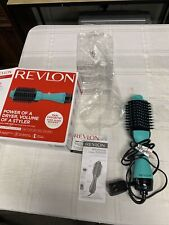 REVLON One-Step Hair Dryer And Volumizer Hot Air Brush, Mint Color
