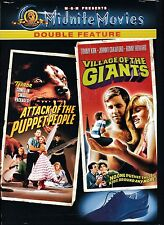 NEW MIDNITE MOVIES DVD / ATTACK OF THE PUPPET PEOPLE + VILLAGE OF THE GIANTS