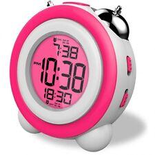Reloj Despertador de mesilla Daewoo DCD-220 PK color rosa LCD Alarma