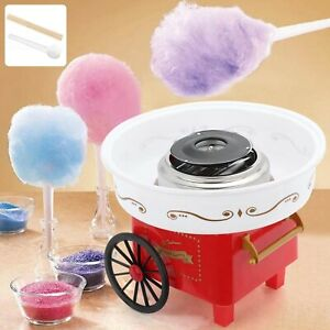 Zuckerwattemaschine Zuckerwattegerät Zuckerwatte 2 Heizröhren Maschine Rot