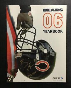Rare Brian Urlacher Autographed Signed 2006 Chicago Bears Program NFL Super Bowl