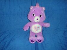"Care Bears Share Bear Plush Purple carebear 14"" 2007 TCFC play along plush"