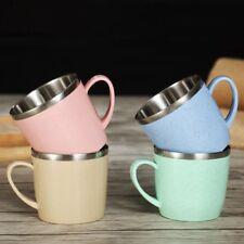 Creative Mini Cute Plastic Coffee Tea Mug Eco-Straw Kids Drinking Water Mugs