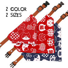 Cat Scarf Bandana Collar Adjustable Pet Dog Kitten Neckerchief Neck Scarf Collar