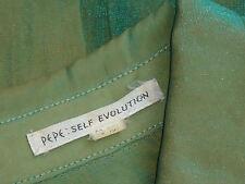 PEPE 'SelfEvolution' L/s2ToneGreenCollared Sz88 EUC