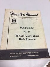 Ih International Instructions Operators Manual Wheel Controlled Disk Harrow