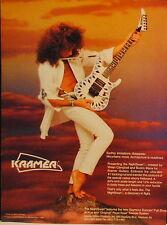 1988 Kramer NightSwan electric guitar created by Vivian Campbell print ad