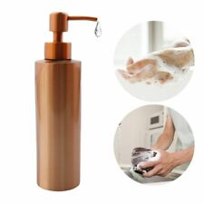 Hand Pump Liquid Soap Dispenser Stainless Gold Bathroom Lotion Detergent Bottle