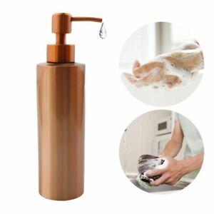 Hand Pump Liquid Soap Dispenser Stainless Gold Bathroom Lotion Detergent Bottle