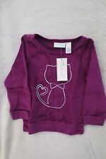 Girl First Impressions Velour Top Size 24 Months Long Sleeves Plum Kitty New