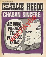 Charlie Hebdo n°66 du 21/02/1972 Chaban-Delmas Cabu CDR