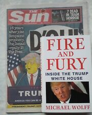 MICHAEL WOLFF.FIRE AND FURY.DONALD TRUMP *D'OH! LISA SIMPSON* PLUS SUN NEWS 2016