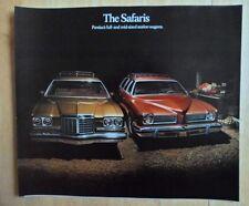 PONTIAC SAFARI orig 1974 USA Mkt Large Format Brochure - Grand Catalina Le Mans
