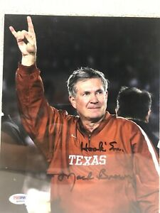 Mack Brown Signed Texas Longhorns 8x10 Photo PSA/DNA