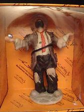 "Emmett Kelly Jr. Miniatures Flambro ""Balancing Act"" Clown Bisque Porcelain New"