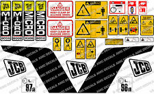 JCB 8008 MICRO DIGGER COMPLETE DECAL SET WITH SAFTY WARNING