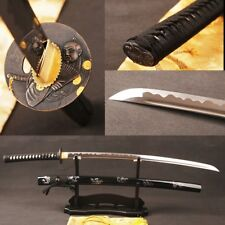 1060 Carbon Steel Katana Japanese Samurai Swords Sharp Blade Double Blood Slot#1