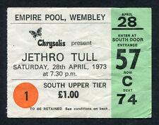 1973 Jetrho Tull Concert Ticket Stub Wembley London UK A Passion Play Tour