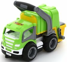 GRIPTRUCK 6257 Müllwagen Fahrzeug Spielzeug Müllauto 28cm mit Gummiräder WADER