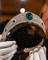 Queen Collection Princess Wedding  Emerald Tiara 925 Sterling Silver