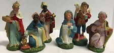 Vintage*Made & Painted In Italy*Manger Nativity*Creche * 6 Pieces*16308i