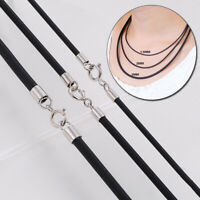 PU Leather Rope Necklace Cords Black With Lobster Clasp Multifunction DIY