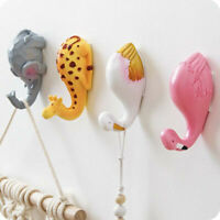 Wall Mount Animal Head Hook Resin Rack Hanger Holder Home Room Decor Accessories