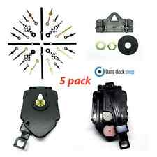 New 5 Pack Pendulum Ticking Quartz Clock Movement Mechanism Motor Metal Hands
