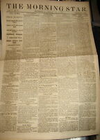 1870 THE MORNING STAR NEWSPAPER BASEBALL NEWS ATHLETICS VS WASHINGTON
