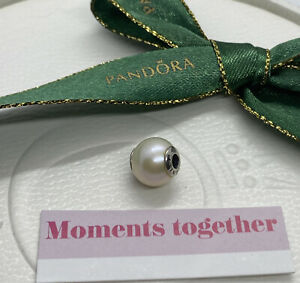 Pandora Essence Collection White Pearl DIGNITY Charm #796068 Authentic Ale 925