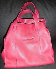 NEW Sonia Rykiel Women's Hot Pink Fuchsia Leather Handbag Purse