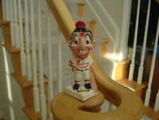 1950's Cleveland Indians Stanford Pottery Bank Razor Discard Chief Wahoo Gold T