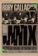 Rory Gallgher Jinx Tour Advert NME Cutting 1982
