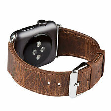 FUTLEX Watch Strap for Apple Watch - 42mm - Coffee Genuine Heritage Leather Band