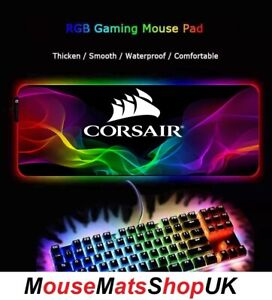 X4mm CORSAIR RGB LED Extra Large Gaming Mouse Pad Mat Non-Slip for desk 80X30CM