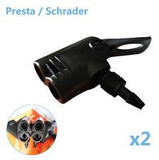 Bicycle Bike Tyre Tube Replacement Presta/Schrader Dual Head Pump Adapter Valve