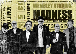 """NOVELTY VINTAGE TICKET """"MADNESS"""" METAL POSTER METAL SIGN XMAS BIRTHDAY GIFT"""