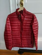 Mens PATAGONIA Paintbrush Red Ultralight 800 Goose Down Sweater Jacket XS $329
