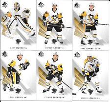 17-18 SP Authentic Pittsburgh Penguins Team Set Crosby Lemieux Malkin