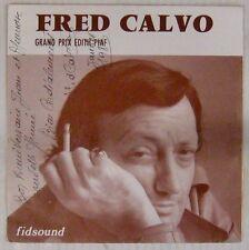 Pochette Tabac 45 tours Fred Calvo Grand prix Edith Piaf