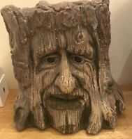 Latex Mould for making large Tree Face Pot/stand