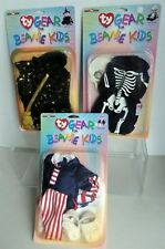 BEANIE KIDS Ty Gear / Outfits UNCLE SAM , SKELETON, WITCH for Halloween Costumes