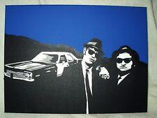 Lienzo película Blues Brothers con coche B&W 16x12 Pulgadas acryli