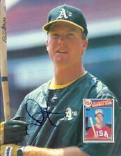 """*MARK McGWIRE*SIGNED*AUTOGRAPHED*OAKLAND*A'S*PICTURE*8.5"""" X 11""""*COA*"""