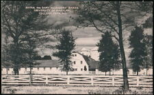 COLLEGE PARK MD University of Maryland Animal Dairy Husbandry Barns Vtg Postcard