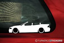2x LOW Bmw E46 M3 , 318is ,330i Convertible / cabrio Outline stickers, Decals