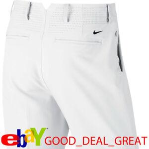 2019 Tiger Woods TW Adaptive Fit Flex Golf Pants 833177-100 White $130