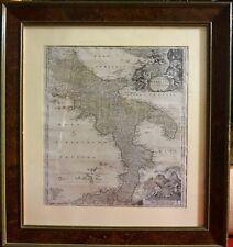 1720 -REGNO NAPOLI-GRANDE CARTA DELL'ITALIA MERIDIONALE CORNICE RADICA-HOMANN